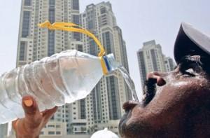 Husk at drikke rigeligt med vand!