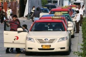 Forskellige taxaer i Dubai