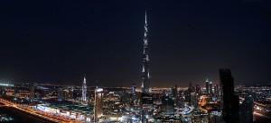 Udsigt fra The Index mod Downtown Dubai